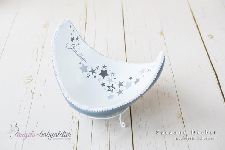 BellyBowl mit Sternen in grau