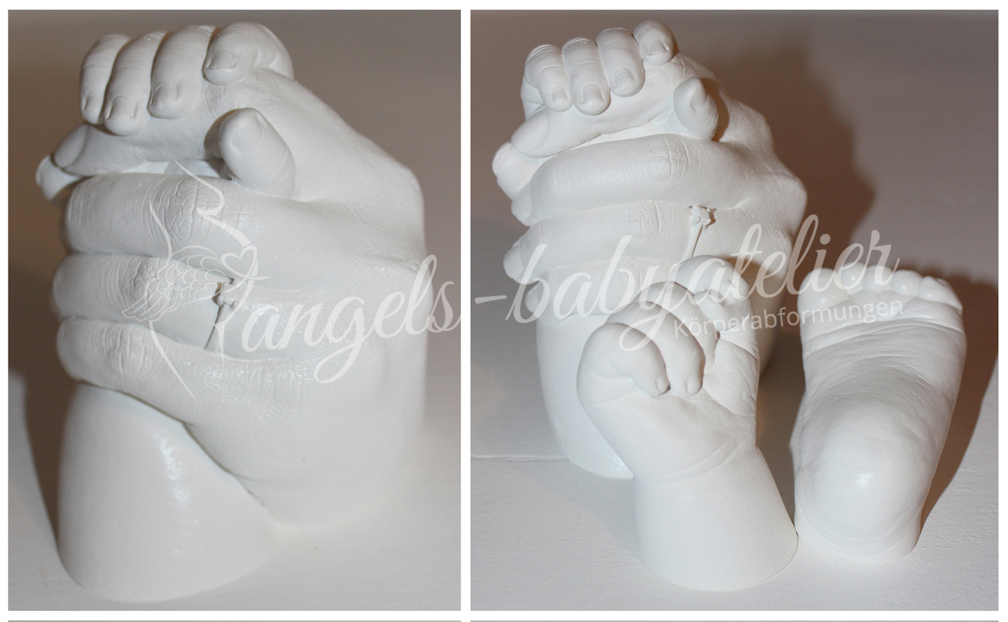 3D Mutter Baby Handabdruck