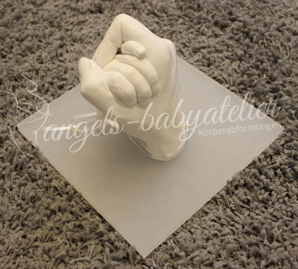 3D Mutter Sohn Hand