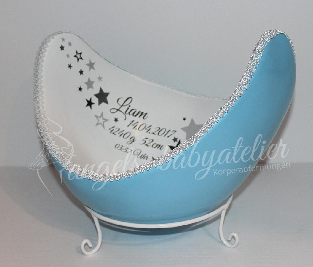 Belly Bowl mit Sternen in Blau