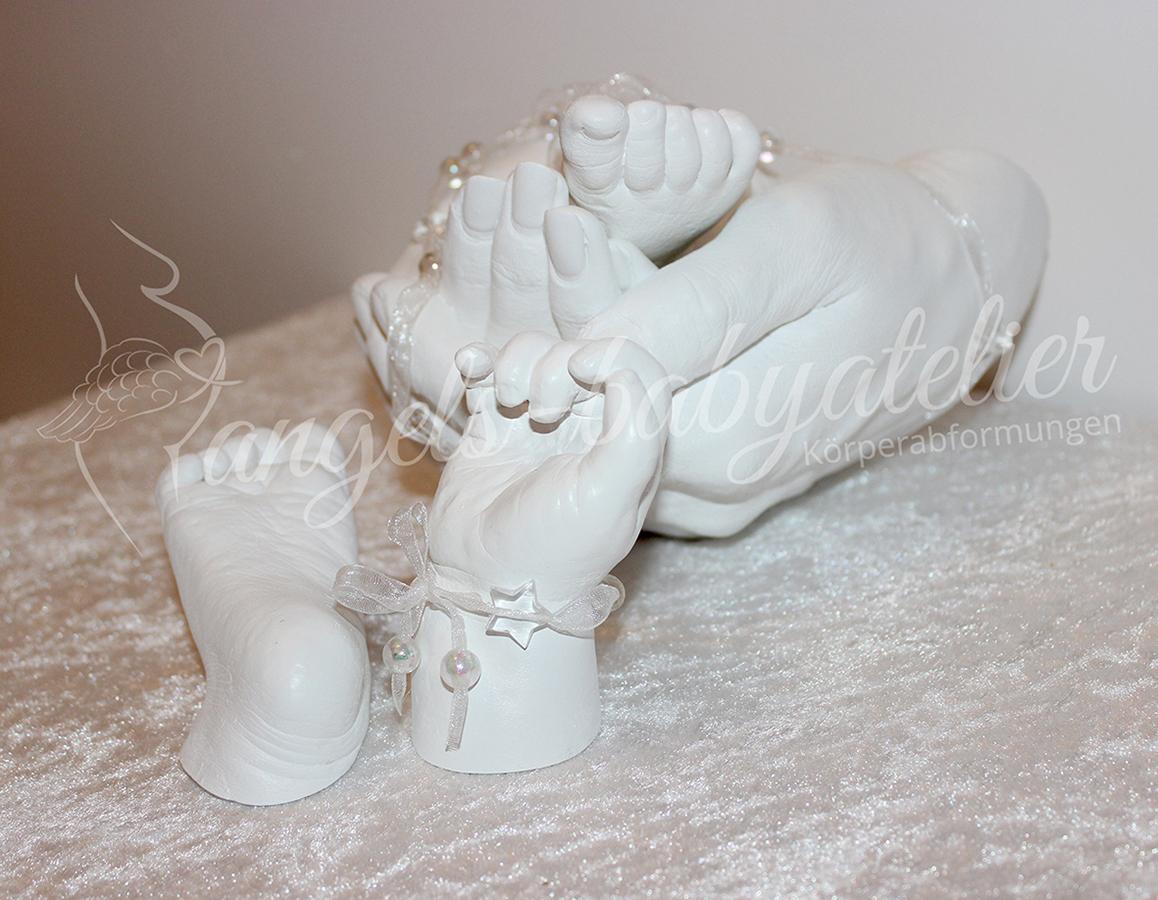 3D Partnerhandabdruck und 3D Babyhand- und Fußset