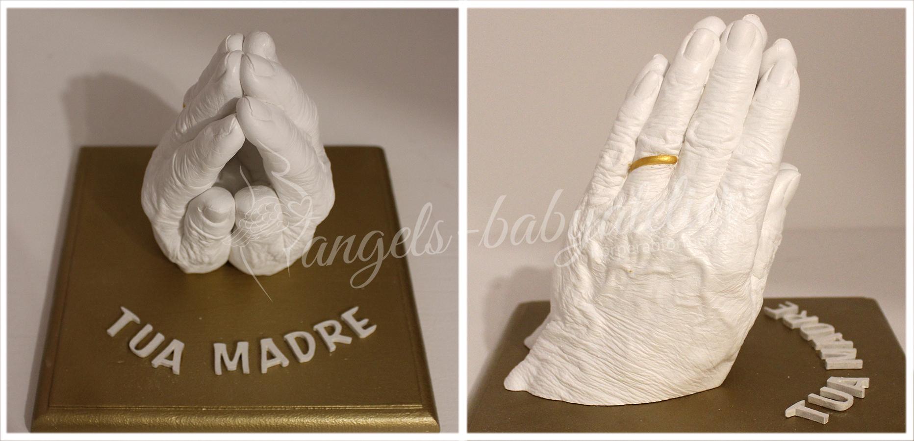 3D Handabdruck Betende Hände