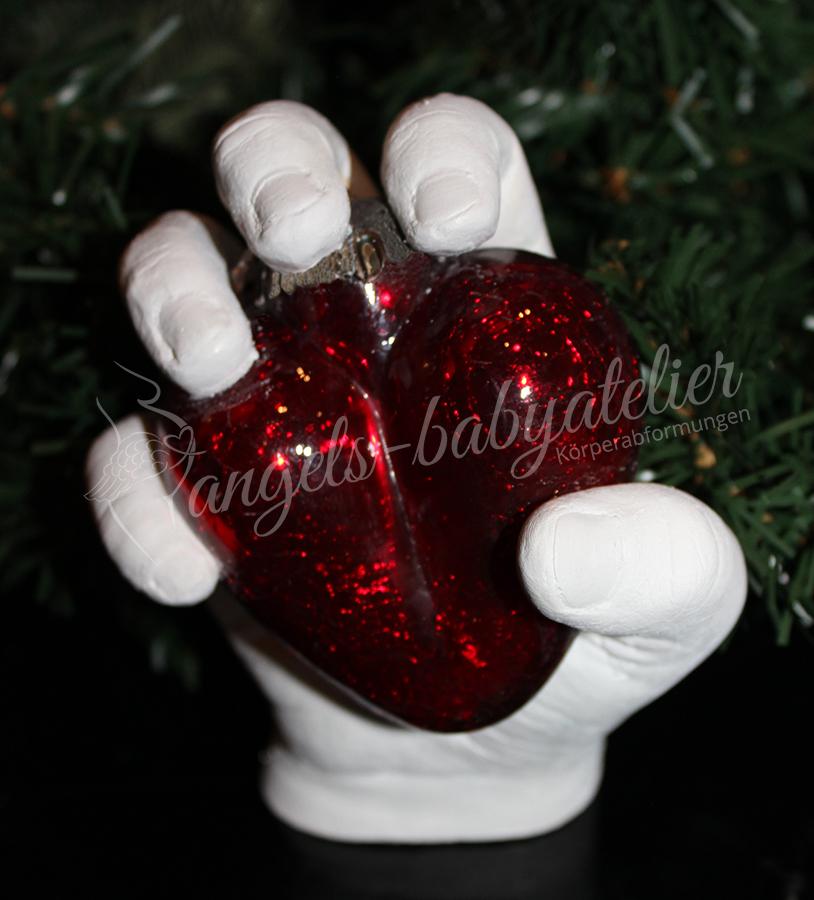 3D Kinderhandabdruck mit Herz