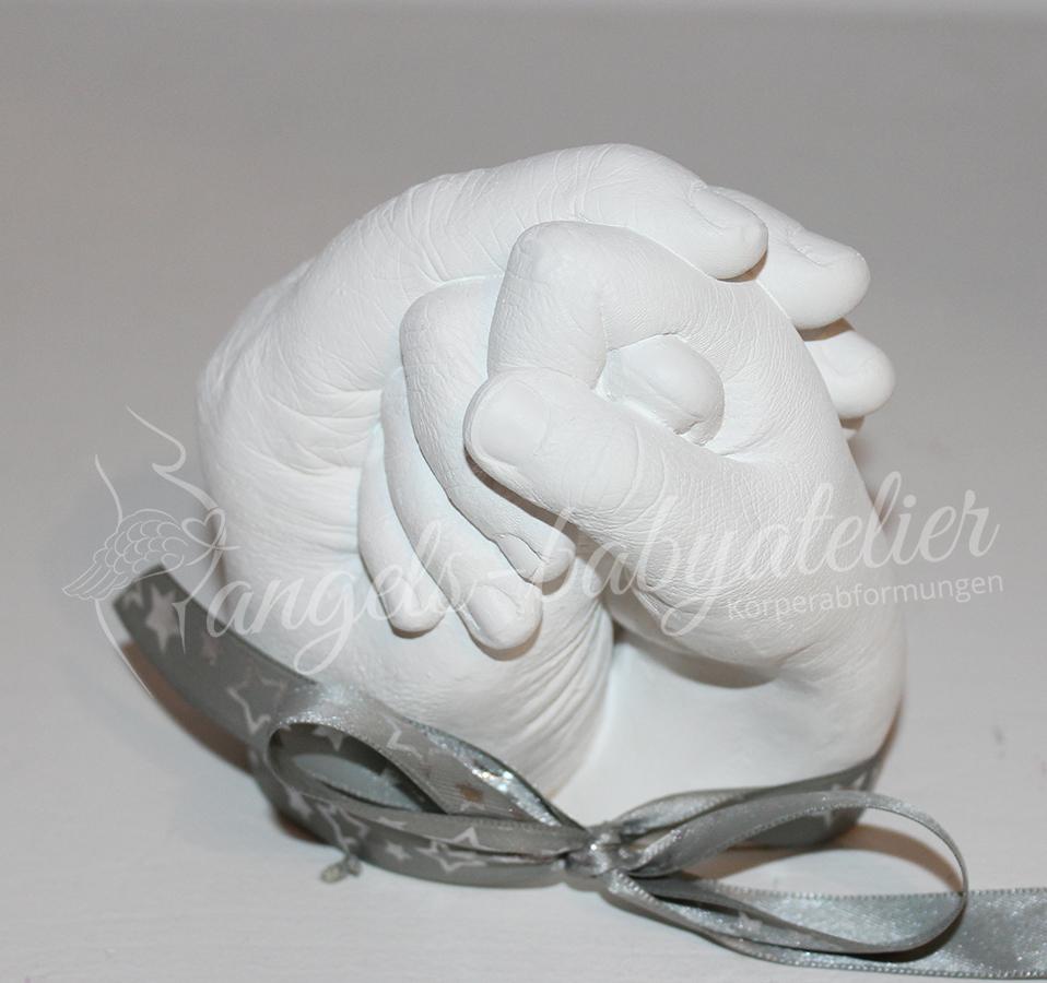 3D Handabdruck Mutter und Sohn
