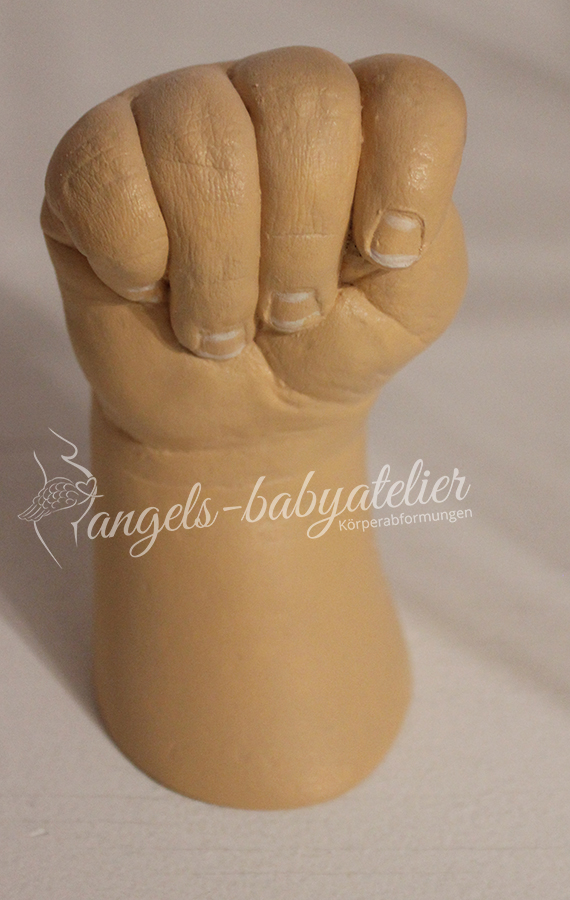 3d Babyhandabdruck in Hautfarbe