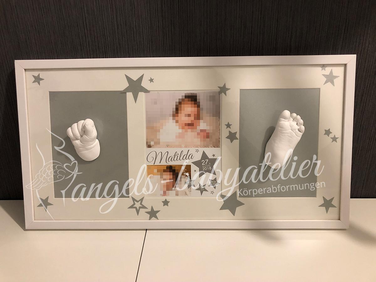 3d Babyhand- und Fußabdruck