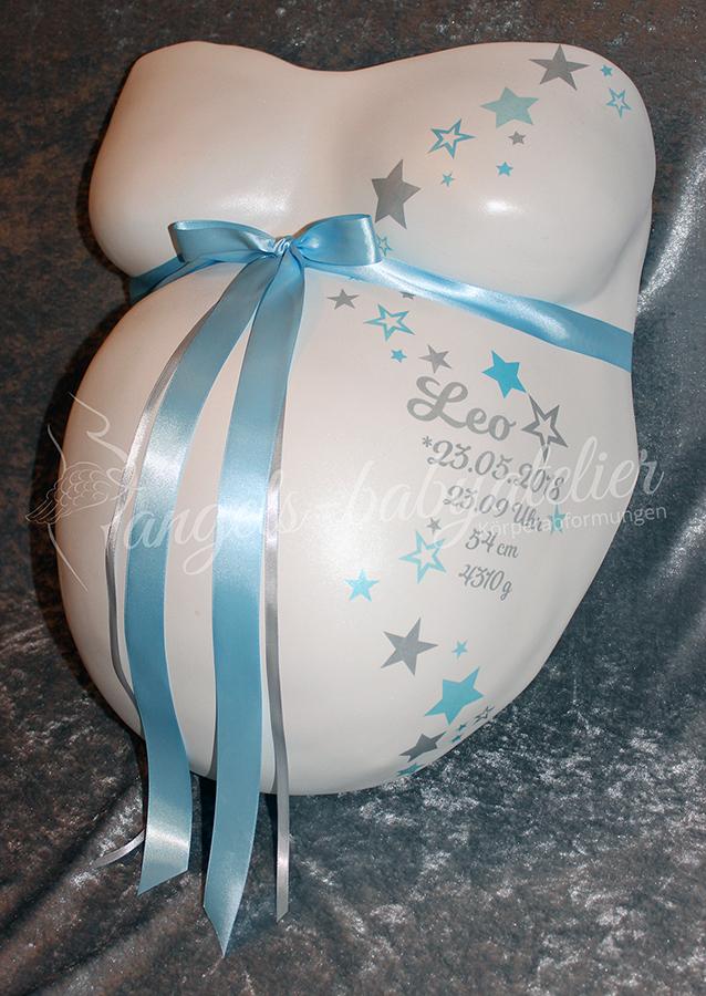 Babygipsbauchabdruck Premium mit Sternen