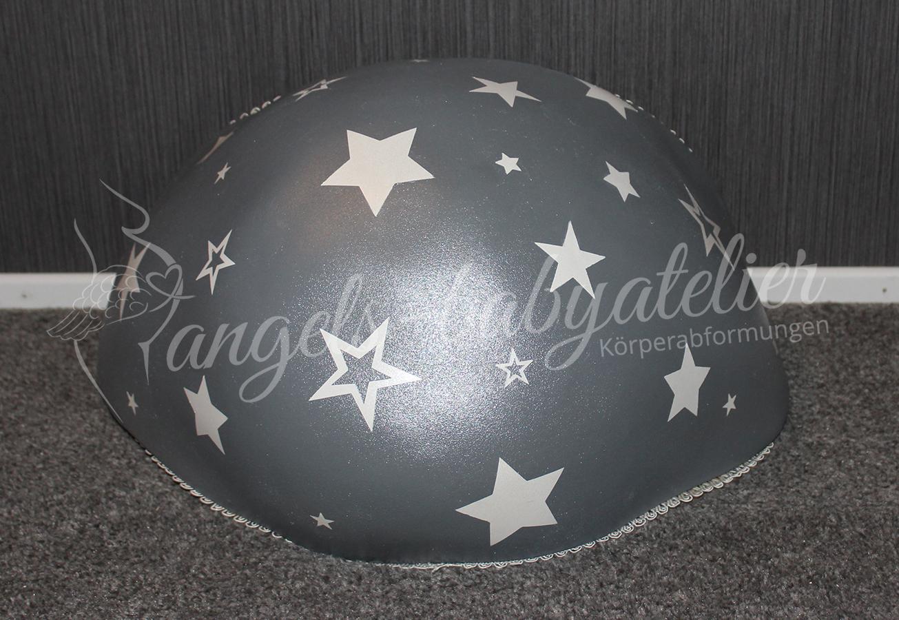 Bellybowl mit Sternen in grau und weiß