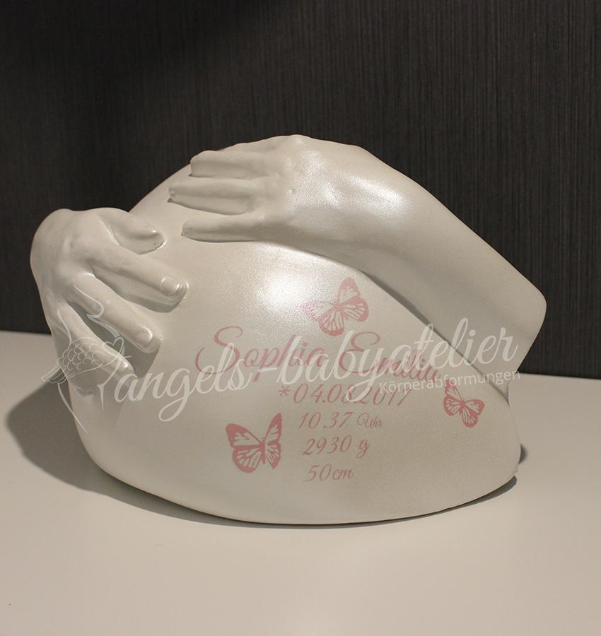 Heart Belly Babygipsbauchabdruck Deluxe